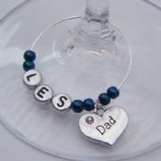 Dad Personalised Wine Glass Charm